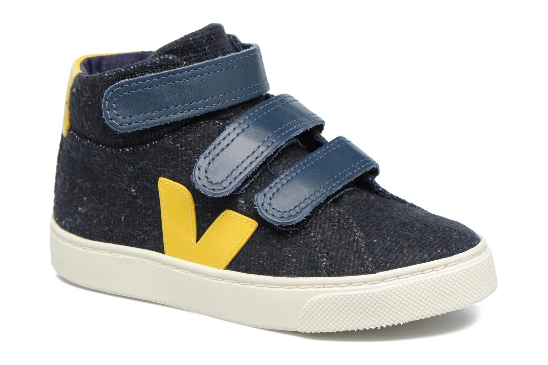 Sneakers Veja Esplar Mid Small Velcro Blå detaljerad bild på paret