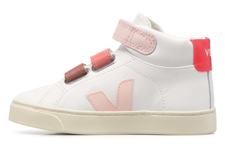 Sneaker Veja Esplar Mid Small Velcro weiß ansicht von vorne