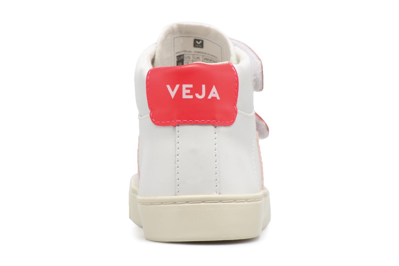 Sneaker Veja Esplar Mid Small Velcro weiß ansicht von rechts