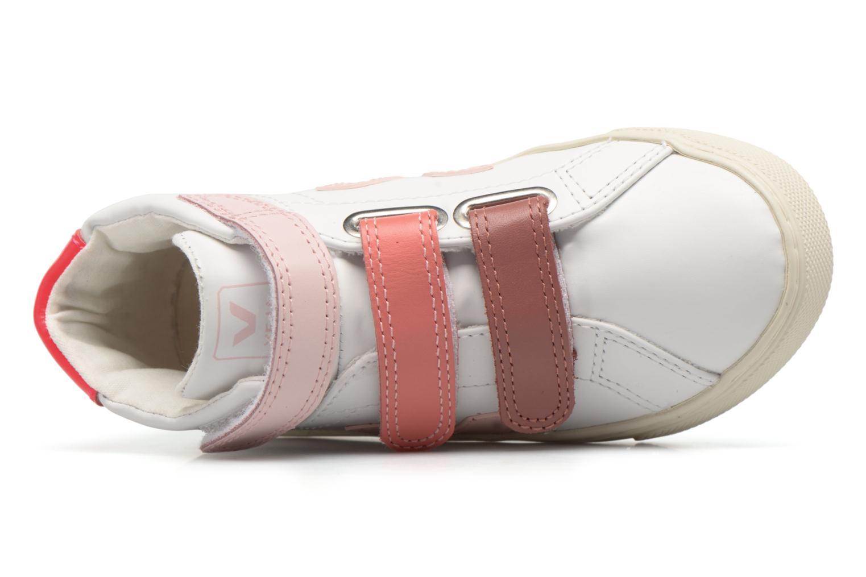 Sneaker Veja Esplar Mid Small Velcro weiß ansicht von links