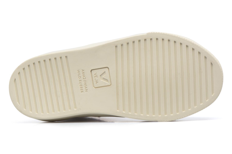 Baskets Veja Esplar Mid Small Velcro Blanc vue haut