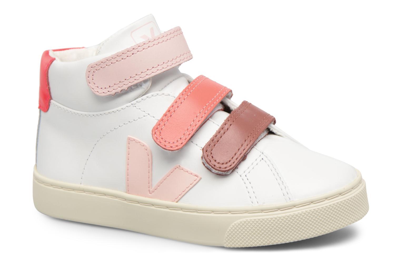 Sneaker Veja Esplar Mid Small Velcro weiß detaillierte ansicht/modell