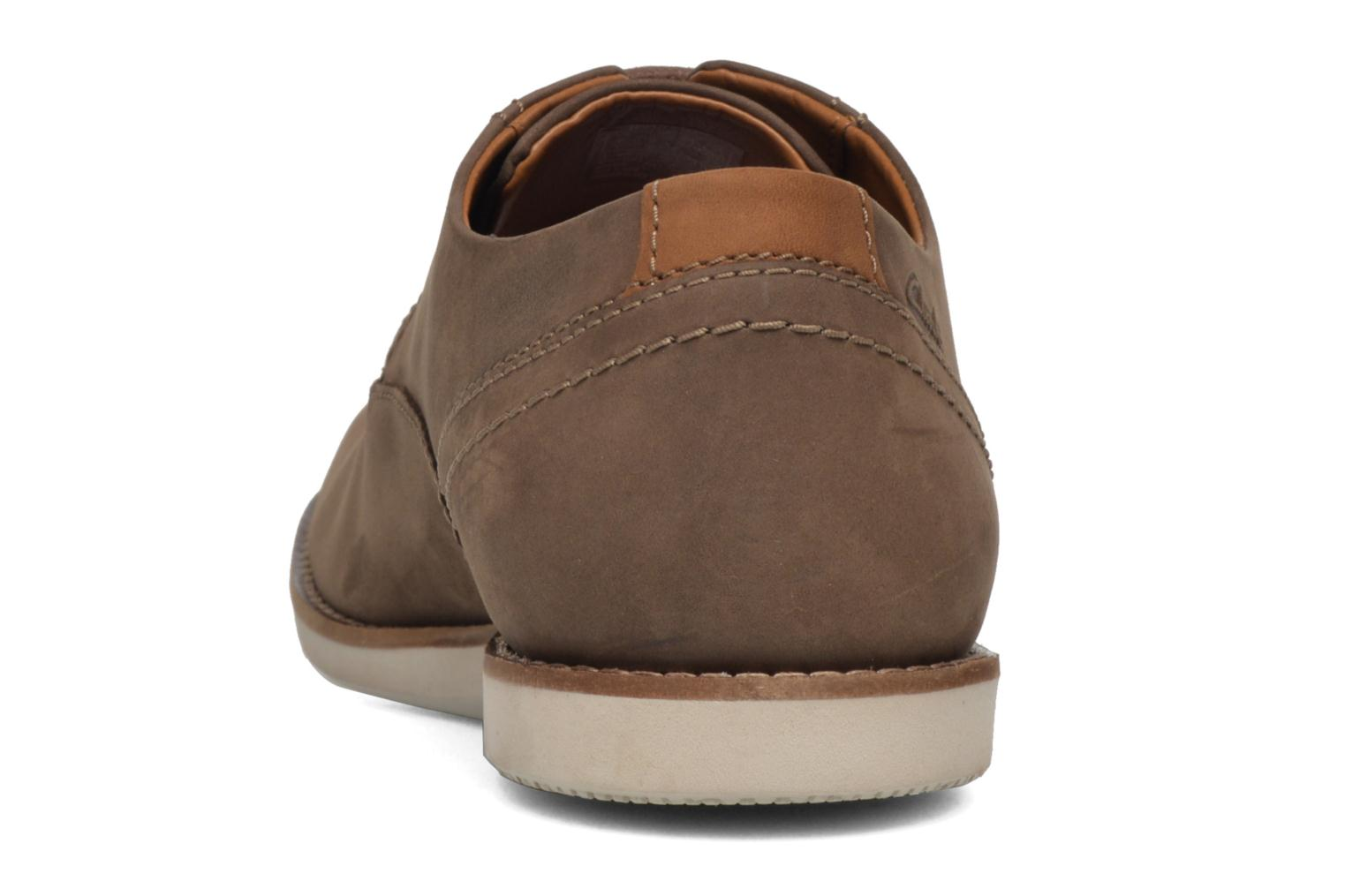 Lace-up shoes Clarks Franson Plain Brown view from the right