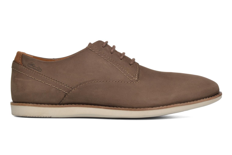 Chaussures à lacets Clarks Franson Plain Marron vue derrière