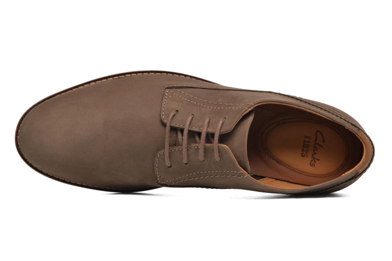 Chaussures à lacets Clarks Franson Plain Marron vue gauche