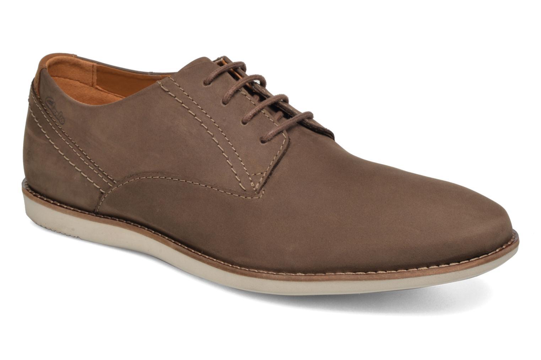 Zapatos con cordones Clarks Franson Plain Marrón vista de detalle / par