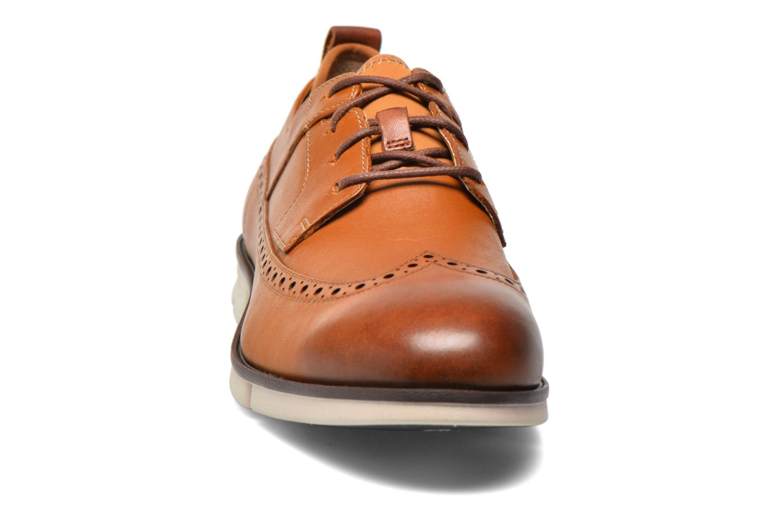 Chaussures à lacets Clarks Trigen Limit Marron vue portées chaussures