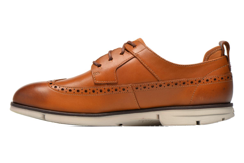 Chaussures à lacets Clarks Trigen Limit Marron vue face