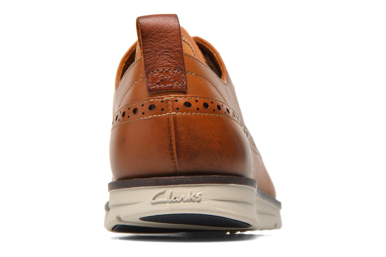Chaussures à lacets Clarks Trigen Limit Marron vue droite