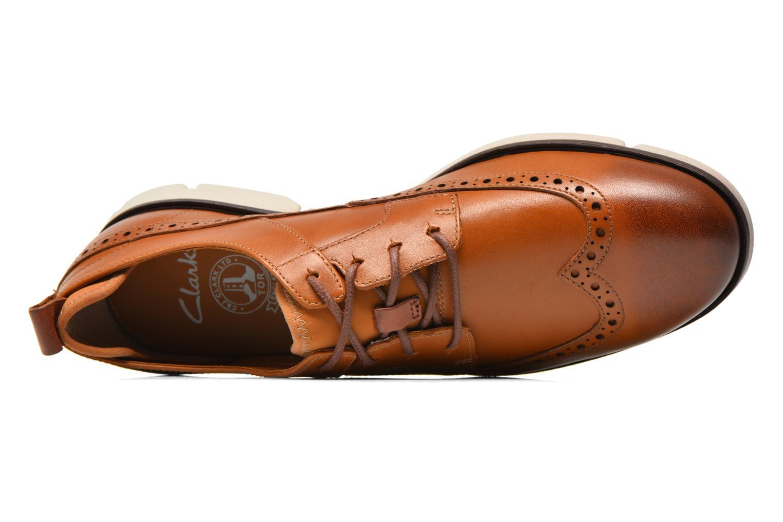 Chaussures à lacets Clarks Trigen Limit Marron vue gauche