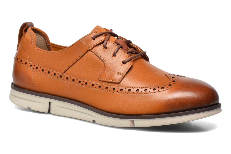 Chaussures à lacets Clarks Trigen Limit Marron vue détail/paire