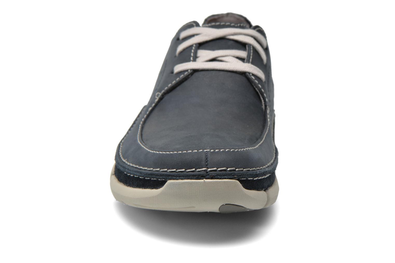 Chaussures à lacets Clarks Trikeyon Fly Bleu vue portées chaussures