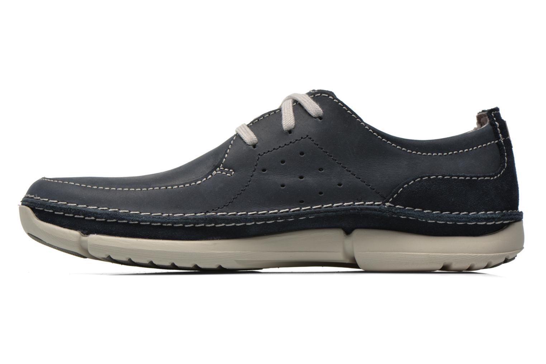 Chaussures à lacets Clarks Trikeyon Fly Bleu vue face