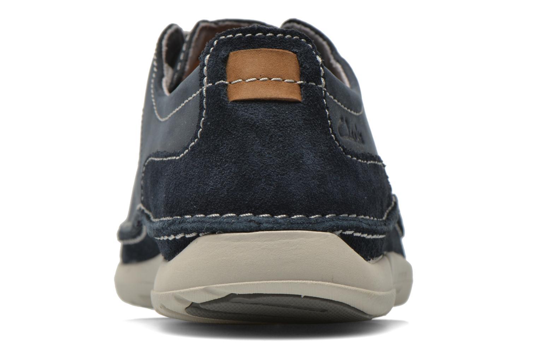 Chaussures à lacets Clarks Trikeyon Fly Bleu vue droite