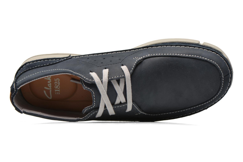 Chaussures à lacets Clarks Trikeyon Fly Bleu vue gauche