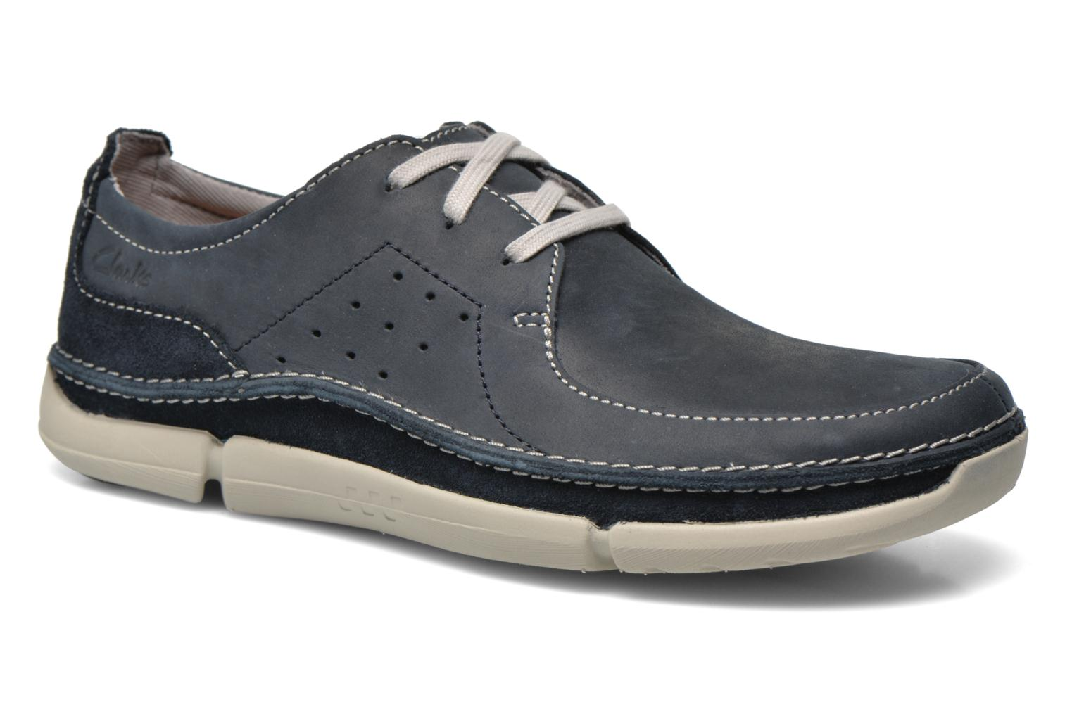 Lace-up shoes Clarks Trikeyon Fly Blue detailed view/ Pair view