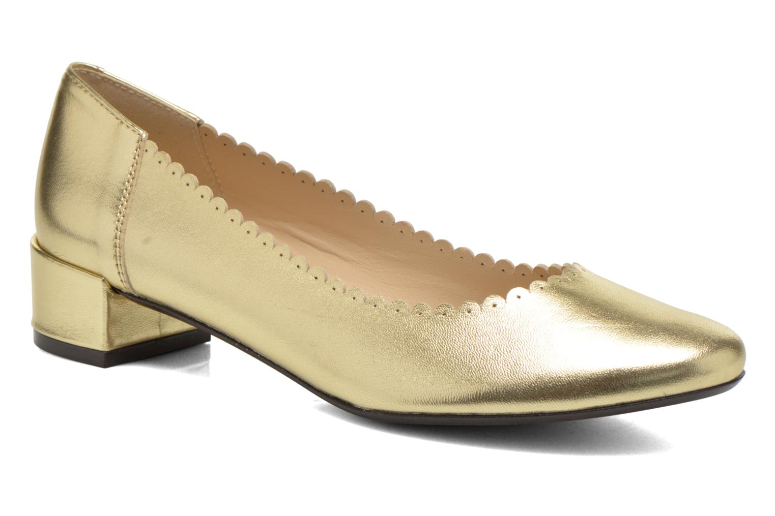 Ballet pumps Georgia Rose Sabby Bronze and Gold detailed view/ Pair view