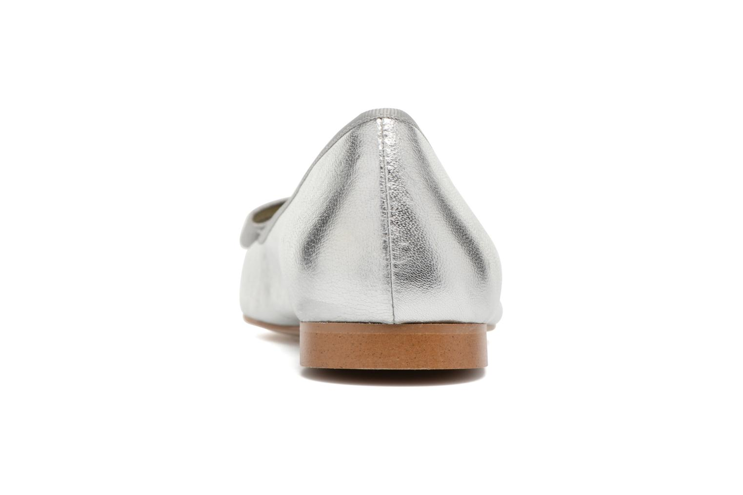Ballet pumps Georgia Rose Siable Silver view from the right