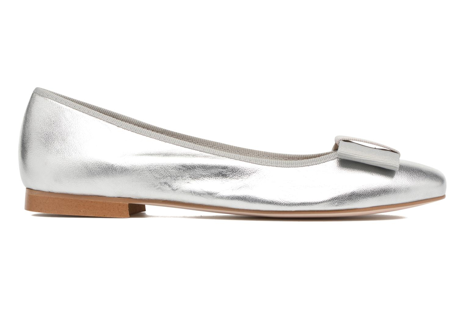 Ballet pumps Georgia Rose Siable Silver back view