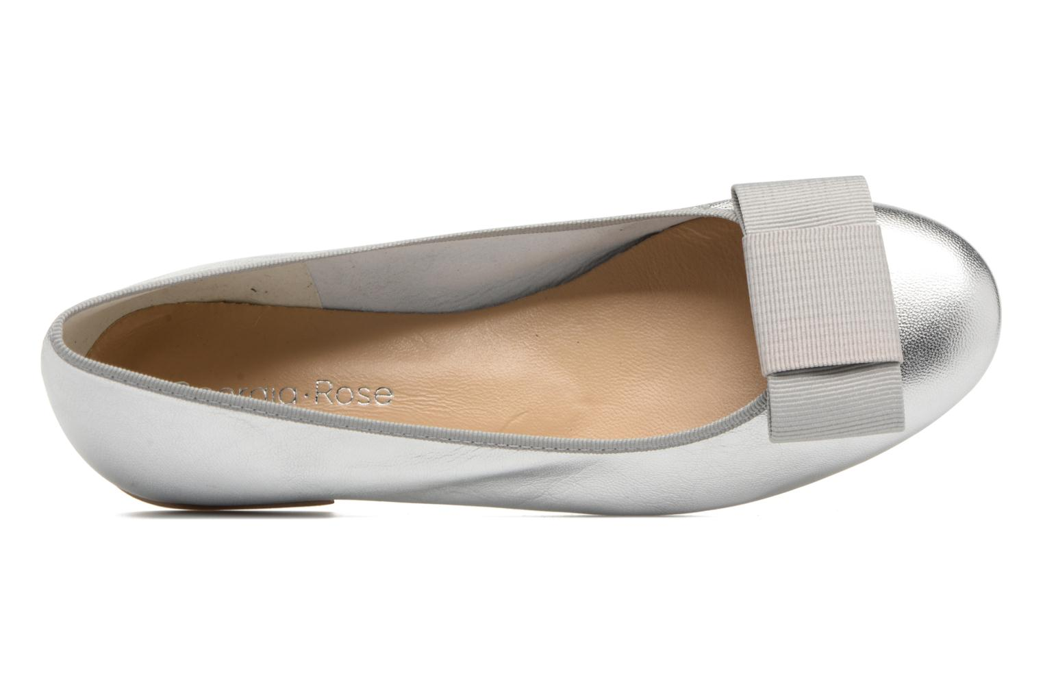 Ballet pumps Georgia Rose Siable Silver view from the left