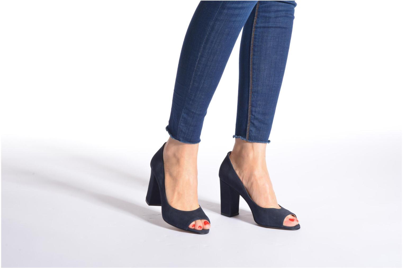 Zapatos de tacón Georgia Rose Saverto Negro vista de abajo