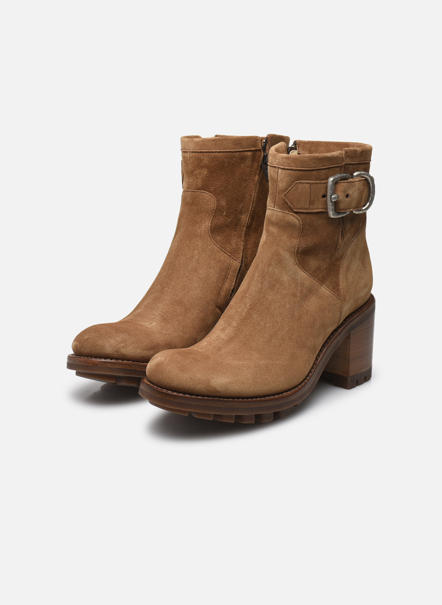 Boots en enkellaarsjes Free Lance Justy 7 Small Gero Buckle Bruin onder