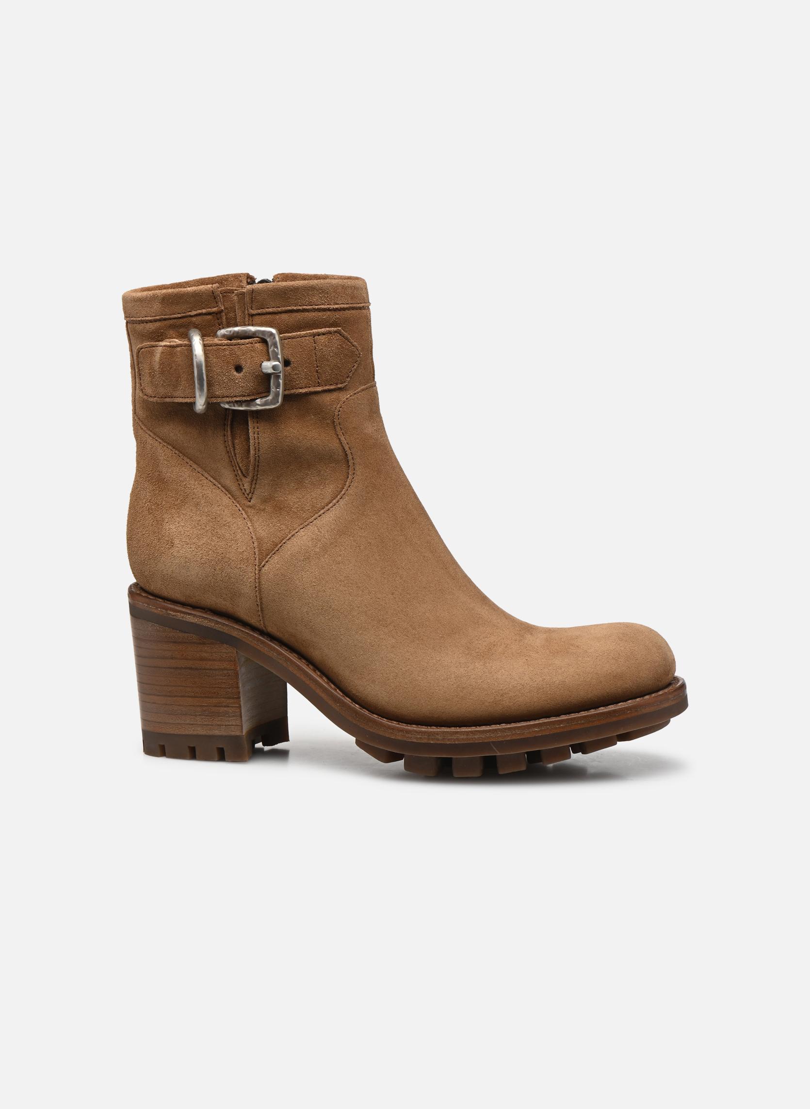 Boots en enkellaarsjes Free Lance Justy 7 Small Gero Buckle Bruin achterkant