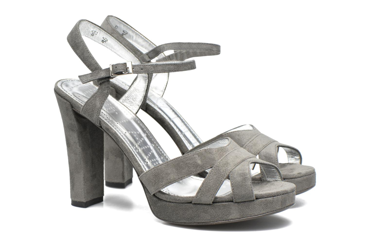 Sandals Free Lance Eve 7 Sandal Grey 3/4 view