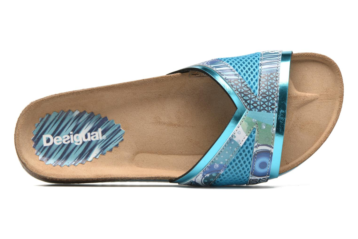 Clogs & Pantoletten Desigual SHOES_BEACH BIO 11 NORA blau ansicht von links