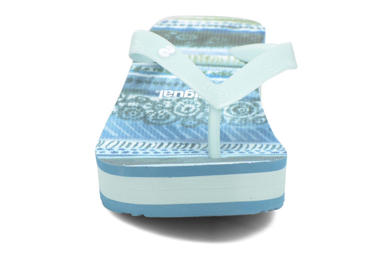 Tongs Desigual SHOES_LOLA Bleu vue portées chaussures