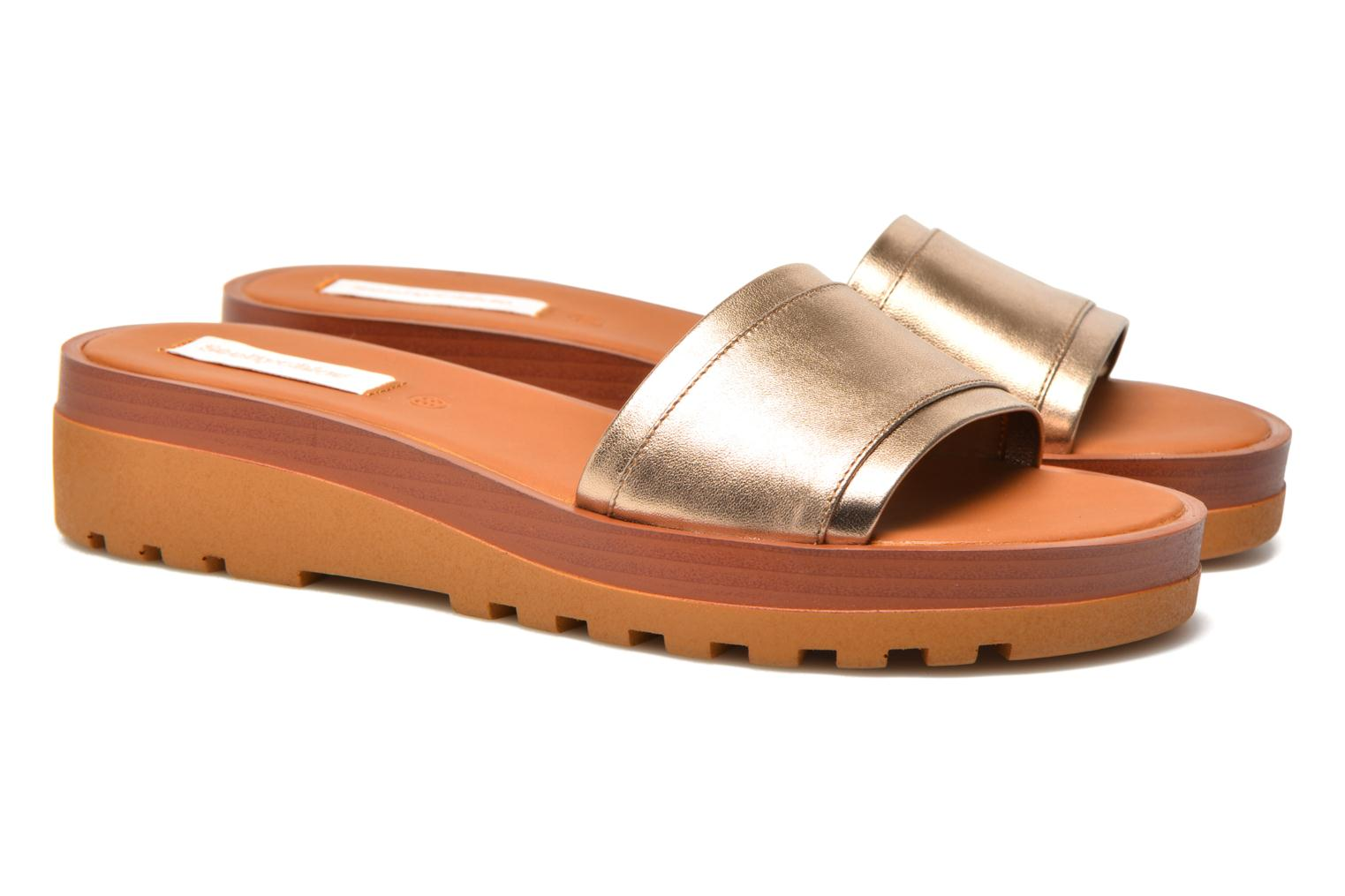 Mules & clogs See by Chloé OkaÏ Bronze and Gold 3/4 view