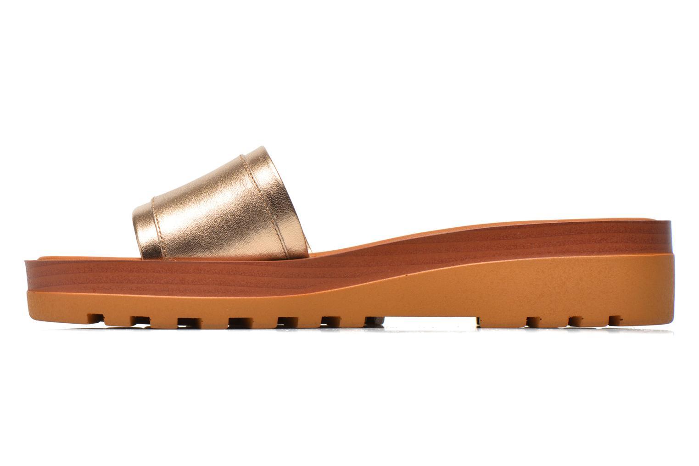 Zuecos See by Chloé OkaÏ Oro y bronce vista de frente