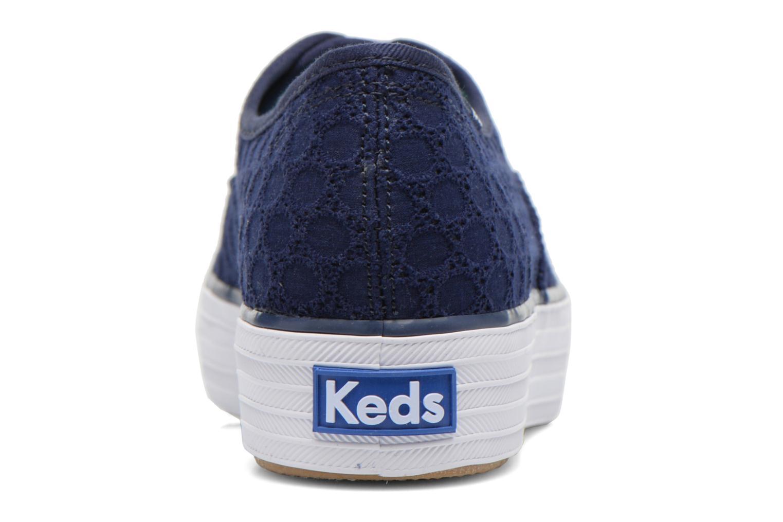 Baskets Keds Triple eyelet Bleu vue droite