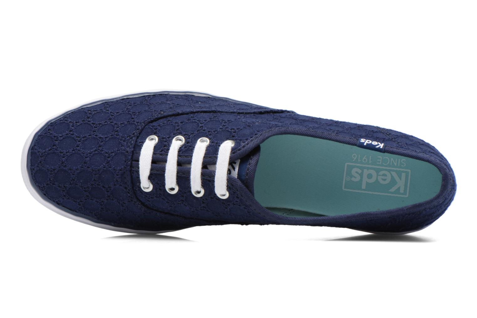 Sneakers Keds Triple eyelet Azzurro immagine sinistra