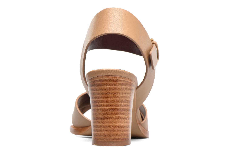 Sandales et nu-pieds Avril Gau Coquille Beige vue droite