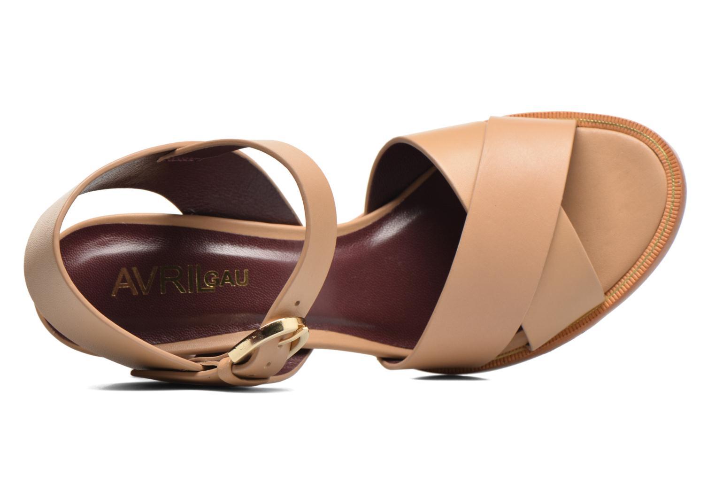 Sandales et nu-pieds Avril Gau Coquille Beige vue gauche
