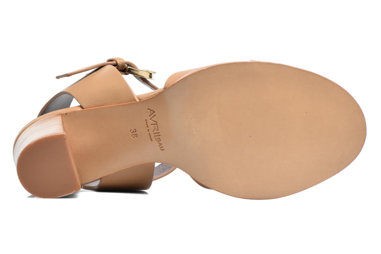 Sandales et nu-pieds Avril Gau Coquille Beige vue haut