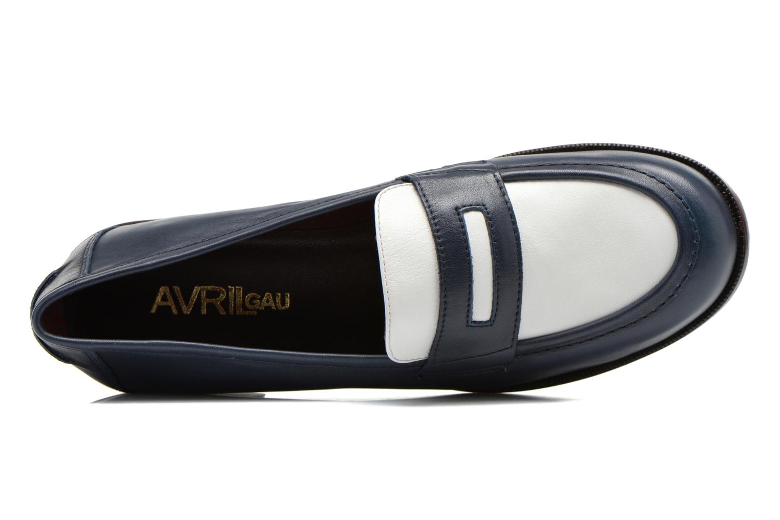 Loafers Avril Gau Farc Blue view from the left