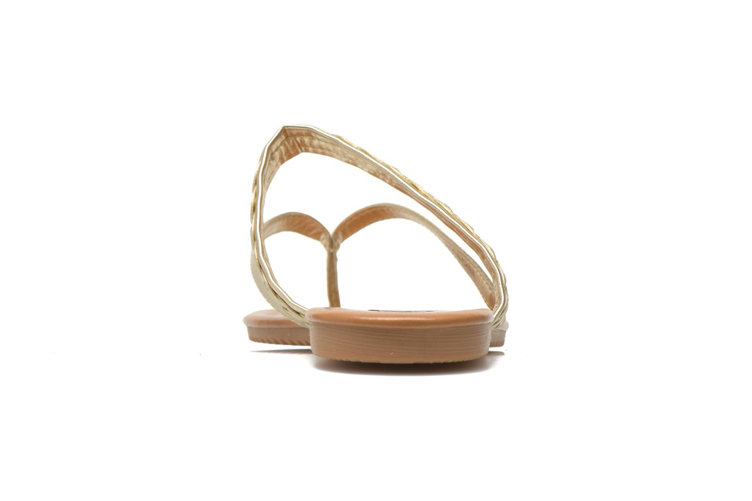Tongs I Love Shoes Therty Or et bronze vue droite