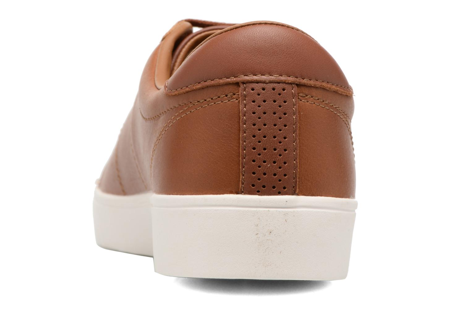 Baskets Fred Perry Spencer Waxed leather Marron vue droite