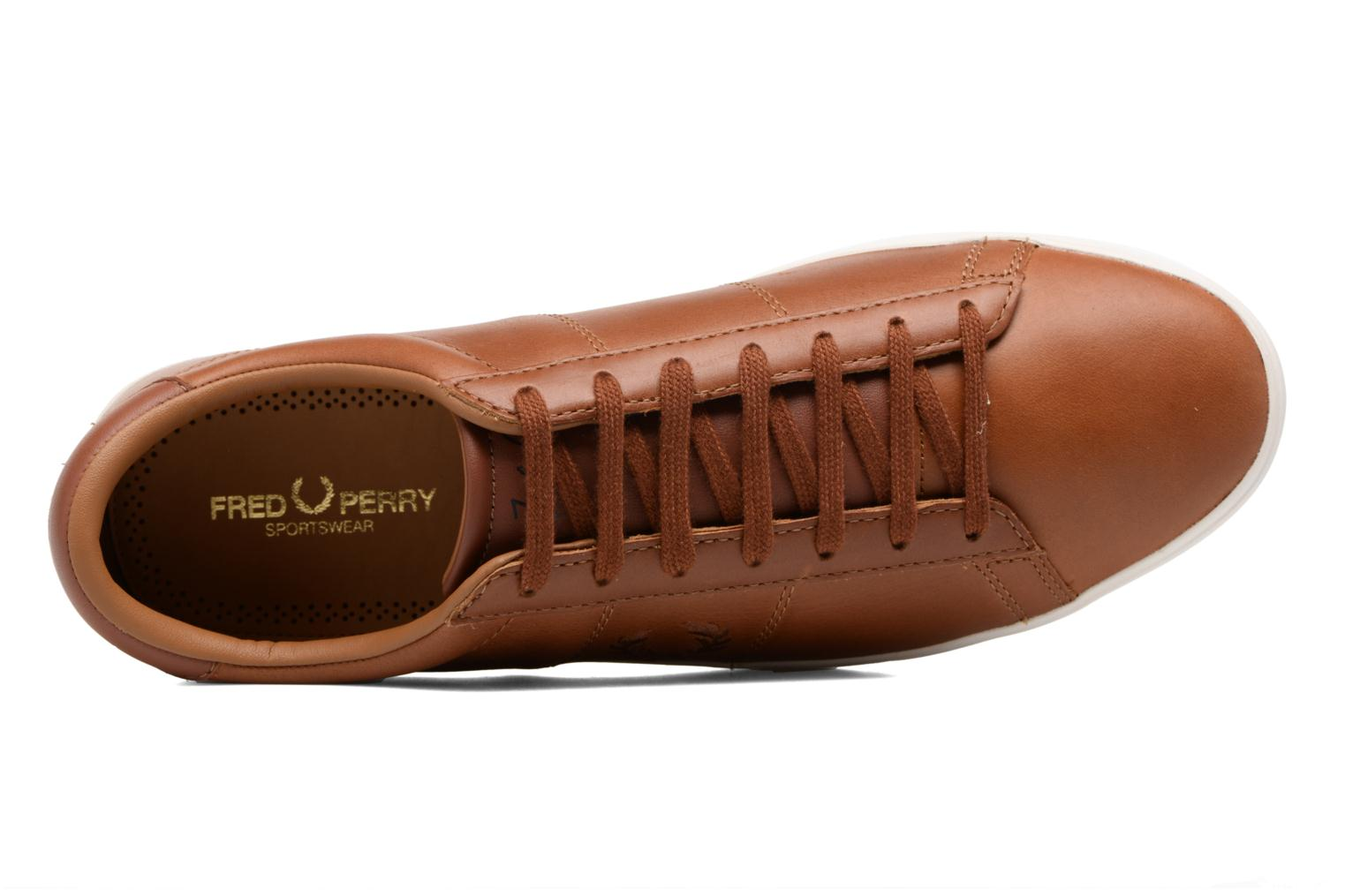 Baskets Fred Perry Spencer Waxed leather Marron vue gauche