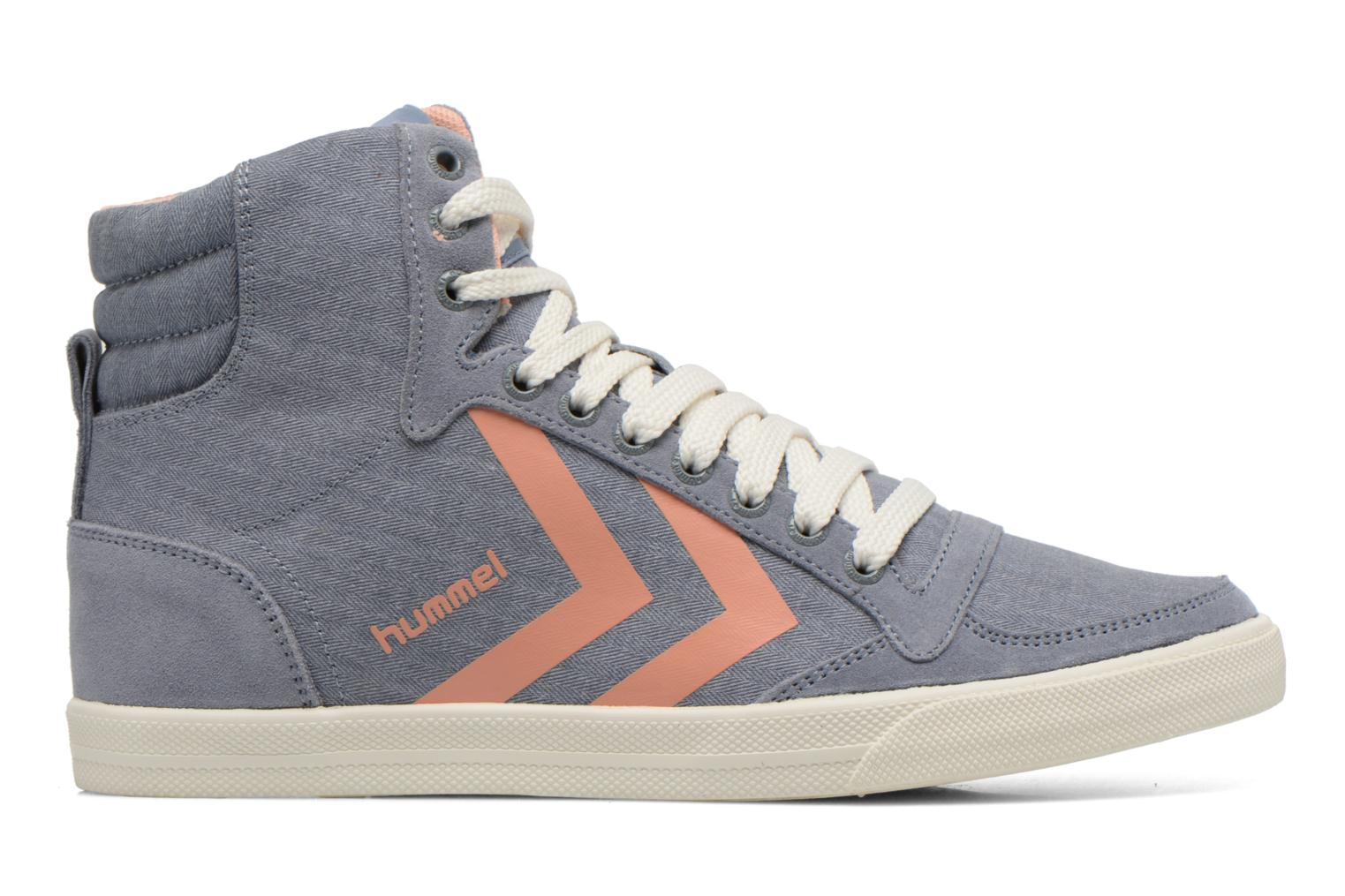 Sneakers Hummel Ten Star Smooth Hi Grijs achterkant