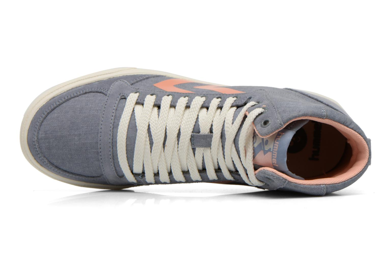 Sneaker Hummel Ten Star Smooth Hi grau ansicht von links