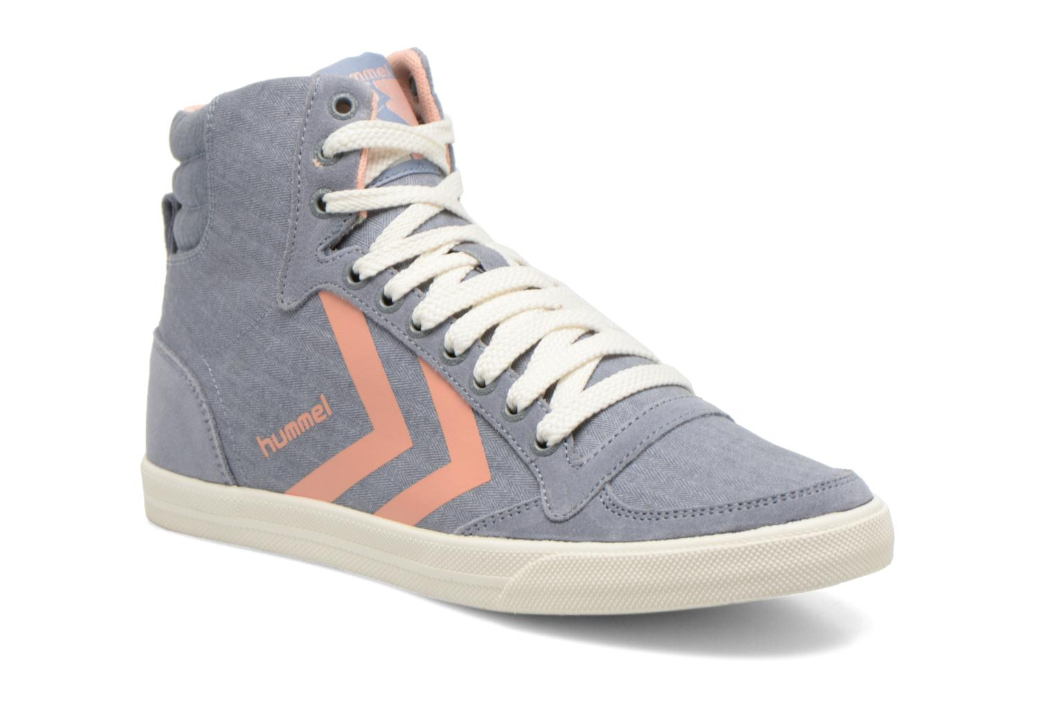 Trainers Hummel Ten Star Smooth Hi Grey detailed view/ Pair view