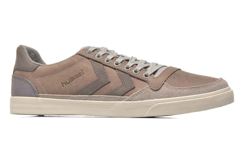 Sneaker Hummel Ten Star Oiled Lo grau ansicht von hinten