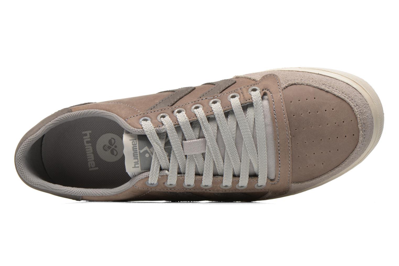 Sneaker Hummel Ten Star Oiled Lo grau ansicht von links