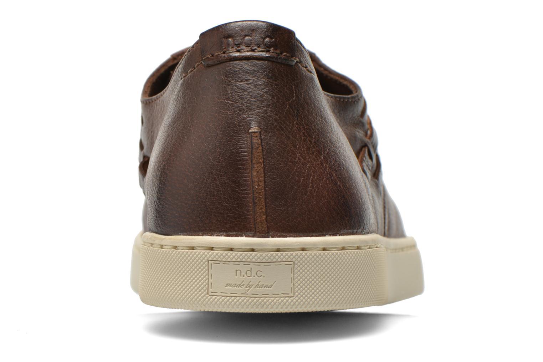 Zapatos con cordones n.d.c Bart Marrón vista lateral derecha