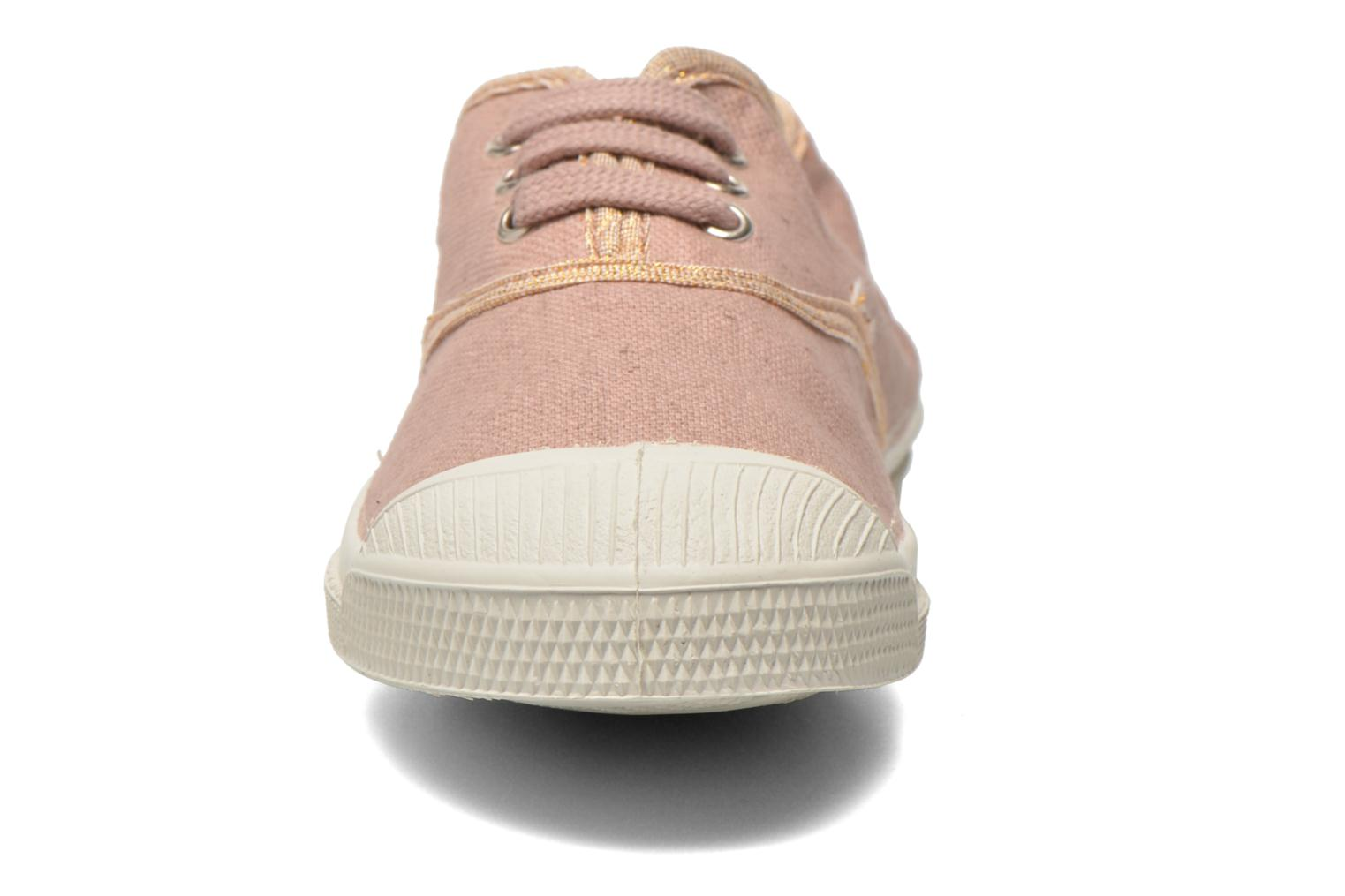 Trainers Bensimon Tennis Lacets Shinypiping E Pink model view