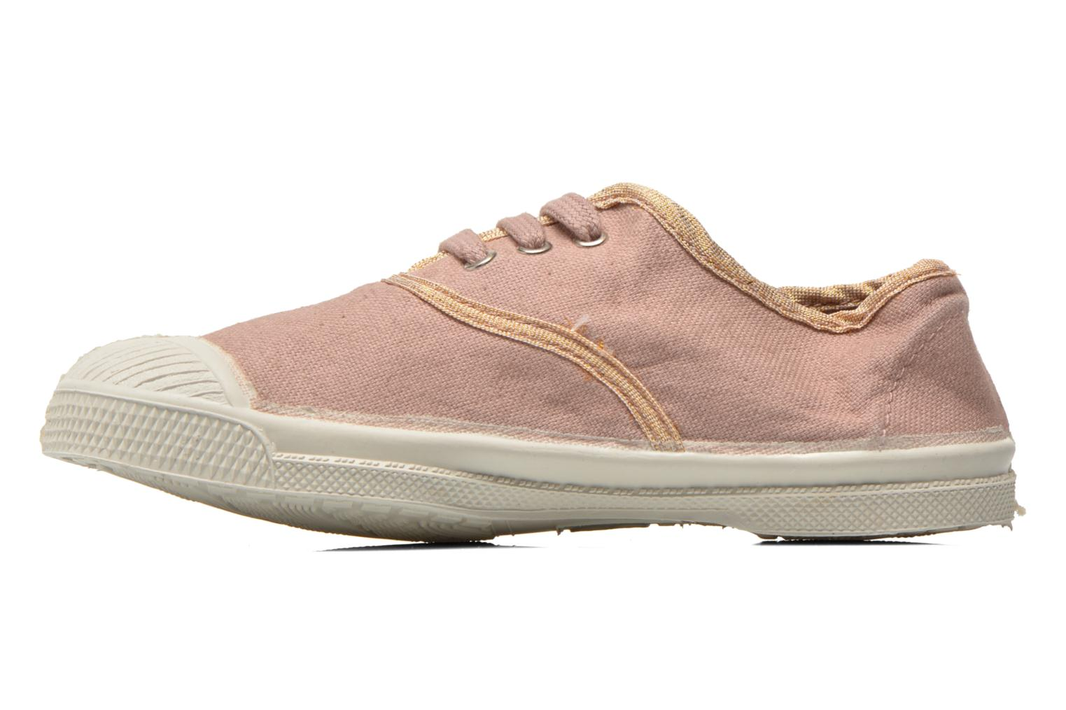 Trainers Bensimon Tennis Lacets Shinypiping E Pink front view
