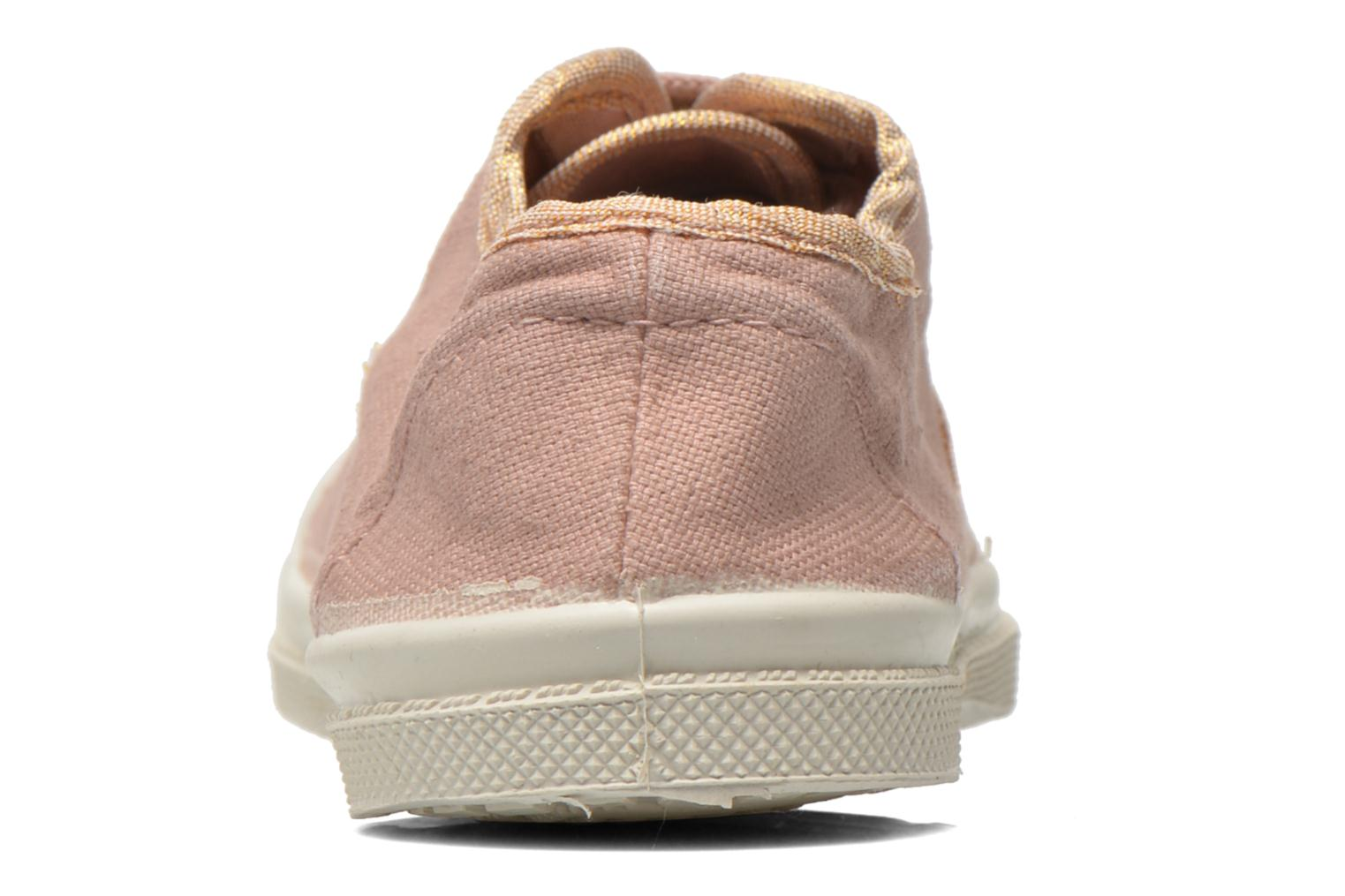 Trainers Bensimon Tennis Lacets Shinypiping E Pink view from the right